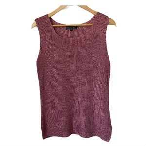 Salvatore Ferragamo silk knit tank in antique rose